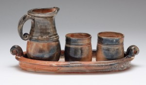 Shino tray, cups and carage