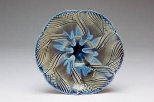 Pin Wheel Blue Bowl