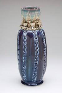 Blue Cactus Vase