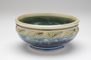 Blue Green serving bowl