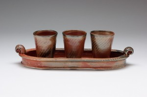 Tray with cups