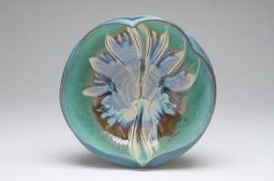 Turquoise Leaf Bowl