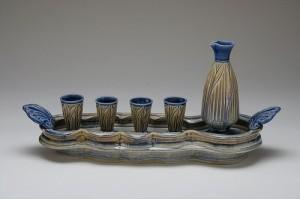 Sake Set with Tray