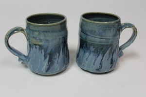 Two blue cups