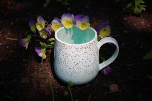 Pale blue mug
